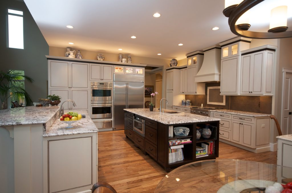 Traditional Two Tone Kitchen with Double Islands - Anchorage, AK