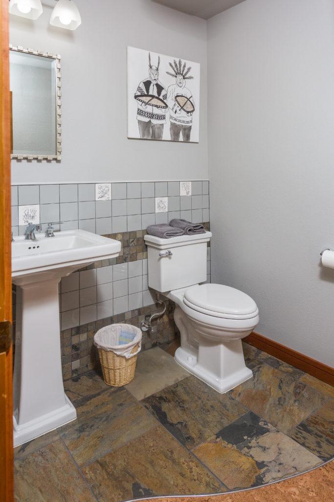 Retro Alaskan Powder Bathroom - Anchorage, AK
