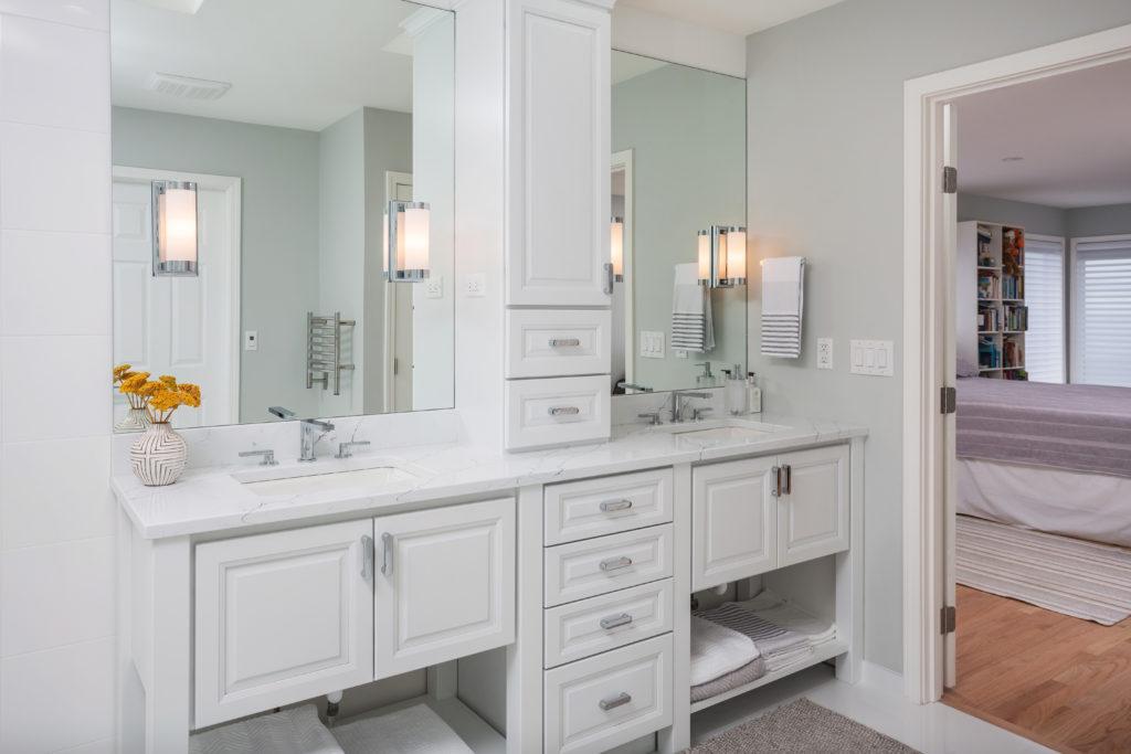 Contemporary Monochromatic Master Bathroom - Anchorage, AK