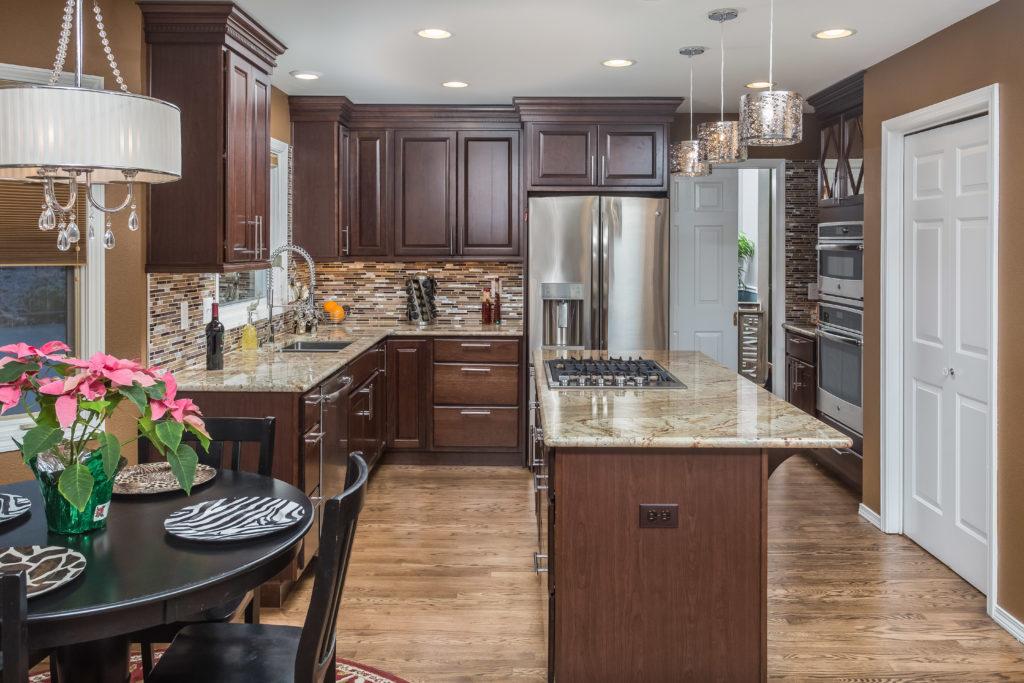 U Shape Kitchen with Island Remodel Anchorage, AK