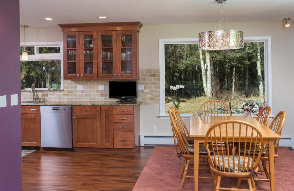 Nature Lovers Kitchen with Warm Maple Cabinets - Anchorage, AK