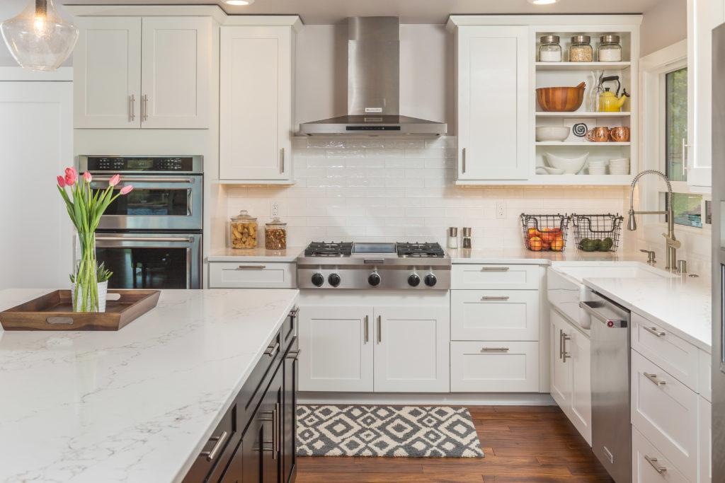 Modern Two Tone Kitchen with Large Island - Anchorage, AK