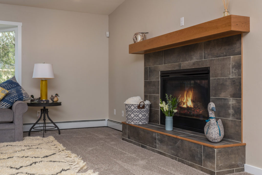 Casual Modern Updated Fireplace