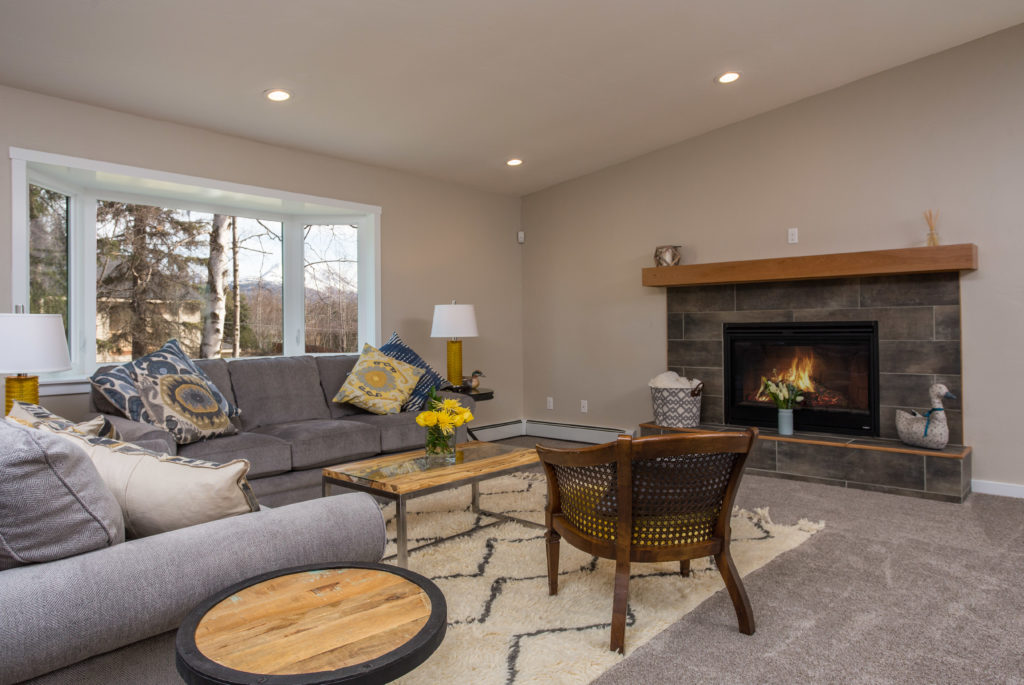 Casual Modern Fireplace Update - Anchorage, AK