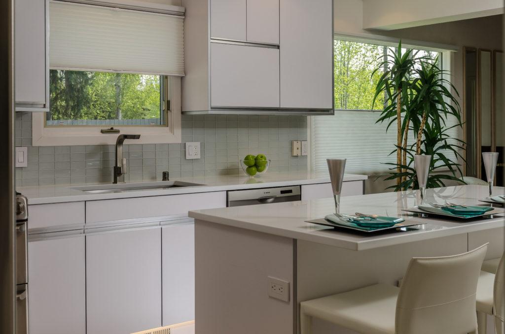 White on White Kitchen Remodel - Eagle River, AK